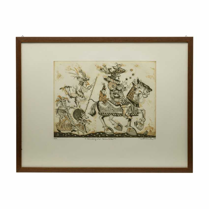 DITTRICH, Simon (geb. 1940), 3 colour etchings, - photo 5