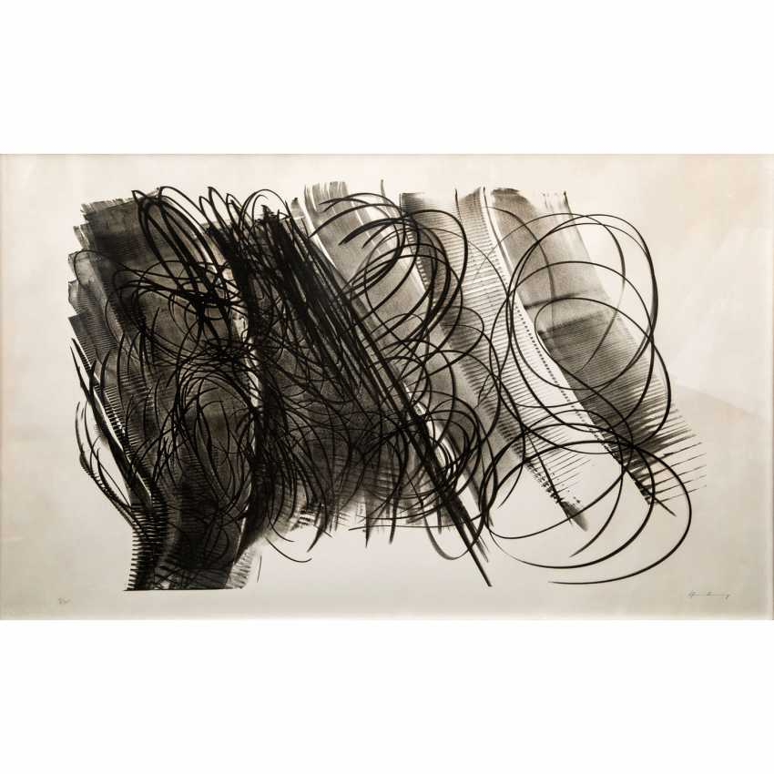"HARTUNG, HANS (1904-1989), ""spiral shapes on strip composition"", - photo 1"