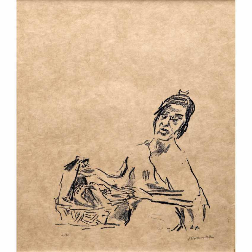 """KOKOSCHKA, OSKAR (1886-1980), Mythologische Szene """"Schlangenbeschwörer"""", - Foto 1"""