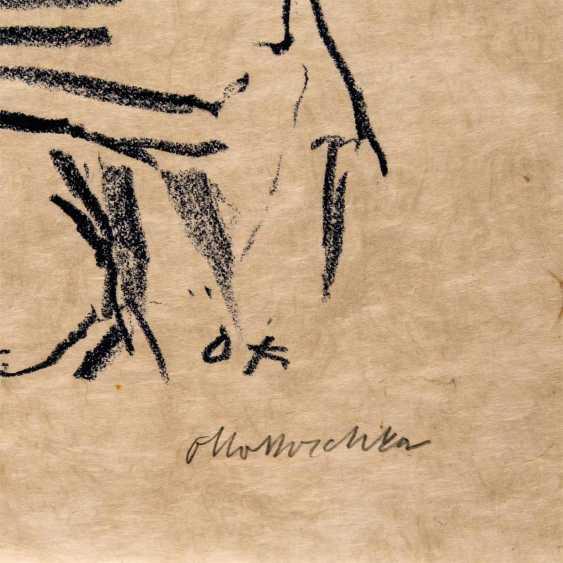 """KOKOSCHKA, OSKAR (1886-1980), Mythologische Szene """"Schlangenbeschwörer"""", - Foto 3"""