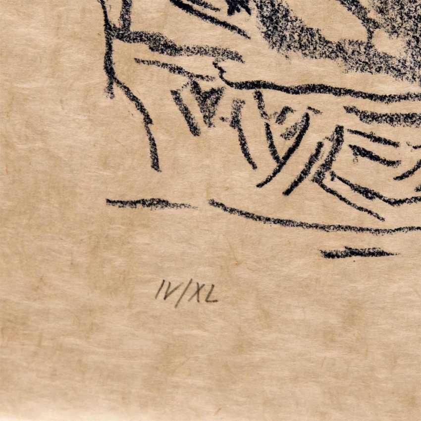 """KOKOSCHKA, OSKAR (1886-1980), Mythologische Szene """"Schlangenbeschwörer"""", - Foto 4"""