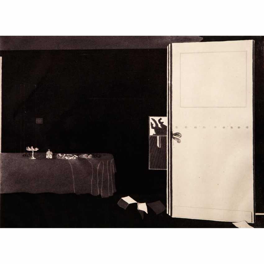 """CASTILLO, JORGE (geb. 1933), """"Interieur mit Tisch"""", - Foto 1"""