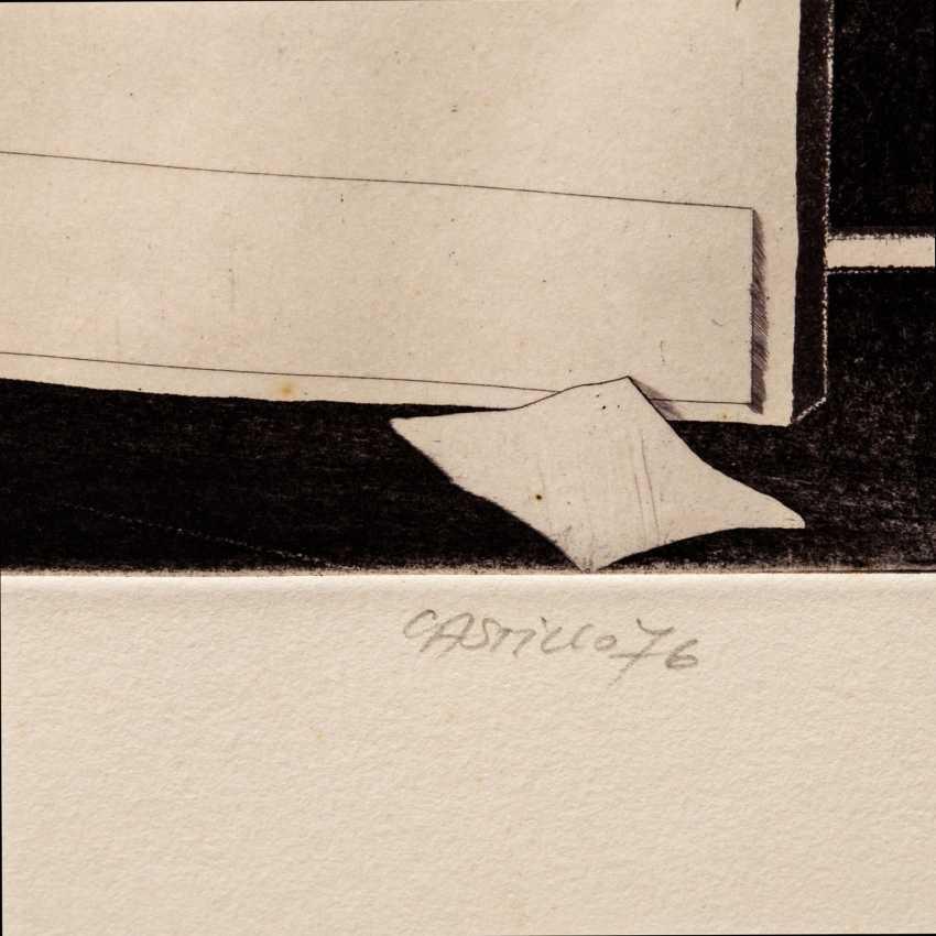 """CASTILLO, JORGE (geb. 1933), """"Interieur mit Tisch"""", - Foto 3"""