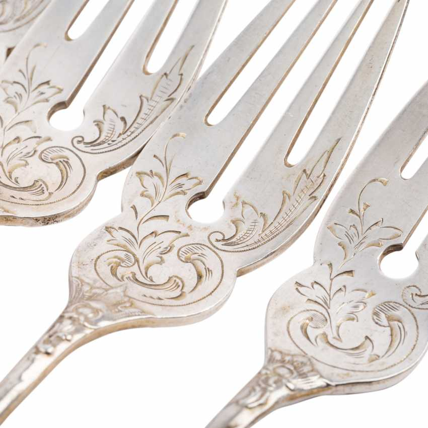 A. C. FRANCK, fish Cutlery for 6 persons, at the beginning of 20. Century. - photo 6