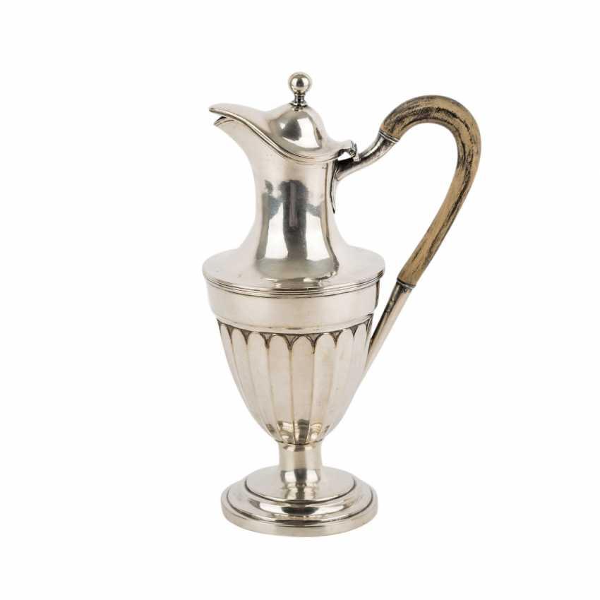 Kanne, Silber, 19. Jahrhundert. - Foto 1