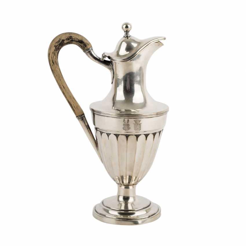 Kanne, Silber, 19. Jahrhundert. - Foto 3