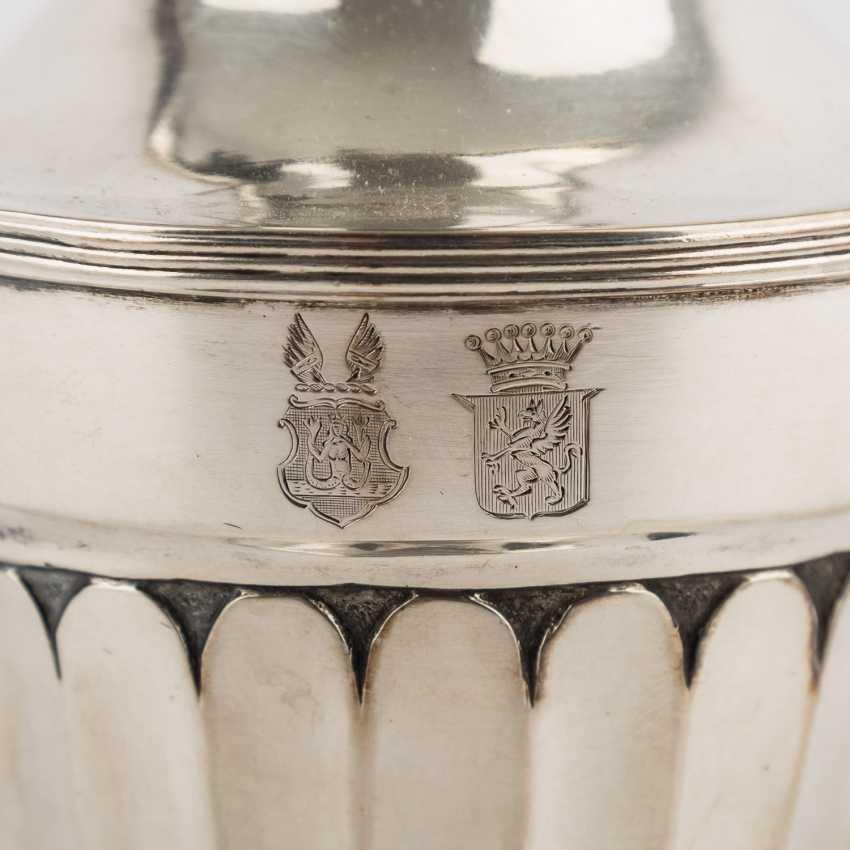 Kanne, Silber, 19. Jahrhundert. - Foto 5