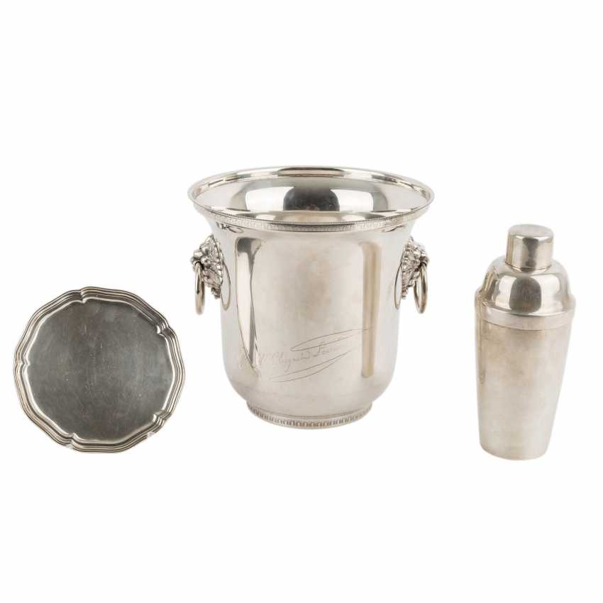 PARIS 3-piece collection, silver plated, 20. Century. - photo 1