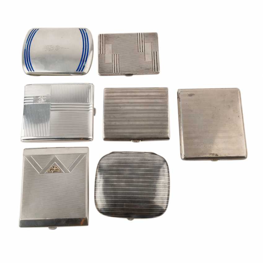 GERMAN lot of 7 cigarette cases, 20. Century. - photo 1