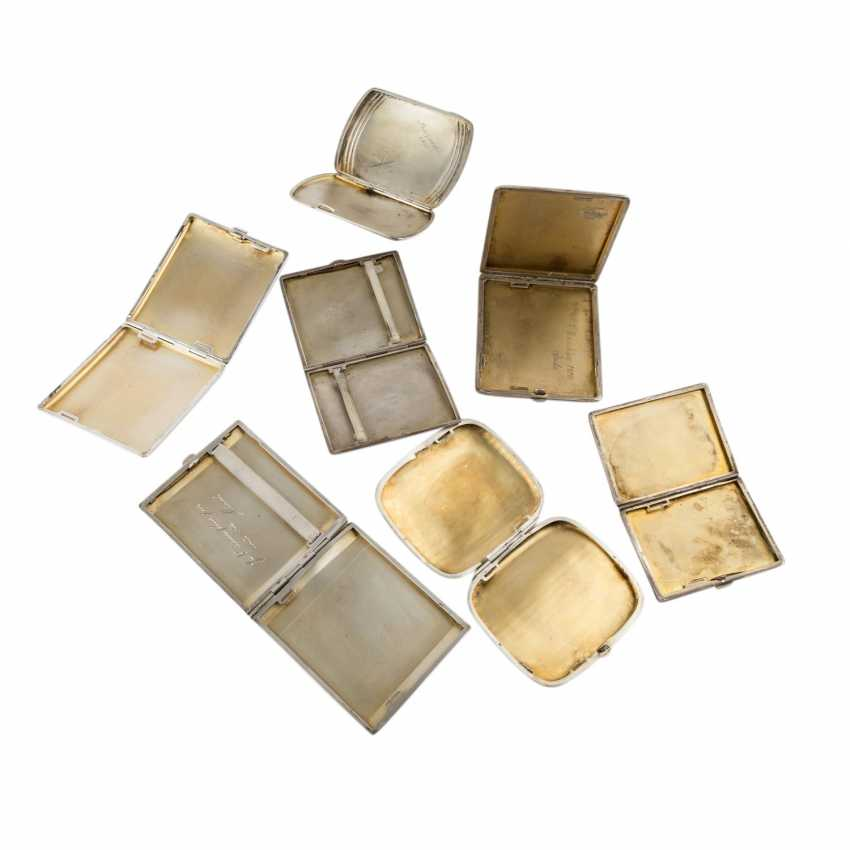 GERMAN lot of 7 cigarette cases, 20. Century. - photo 2