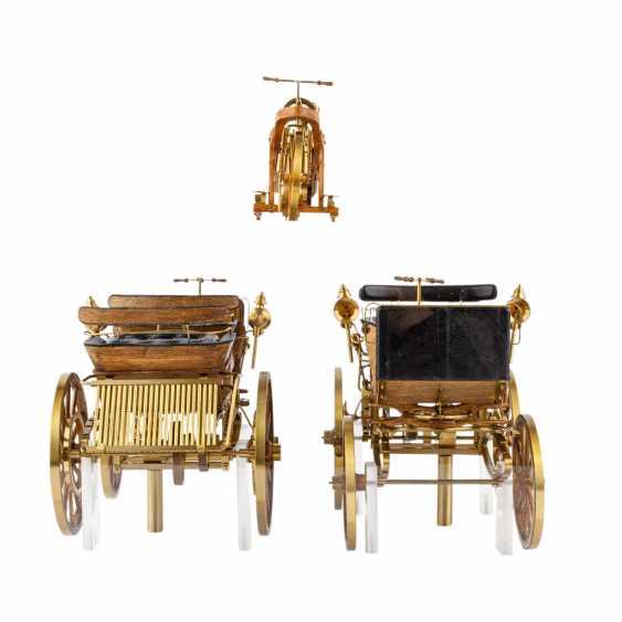 3-teilig Konvolut Modelle von Motoren- und Reitwagen, 20. Jahrhundert - Foto 2