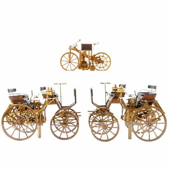 3-teilig Konvolut Modelle von Motoren- und Reitwagen, 20. Jahrhundert - Foto 3
