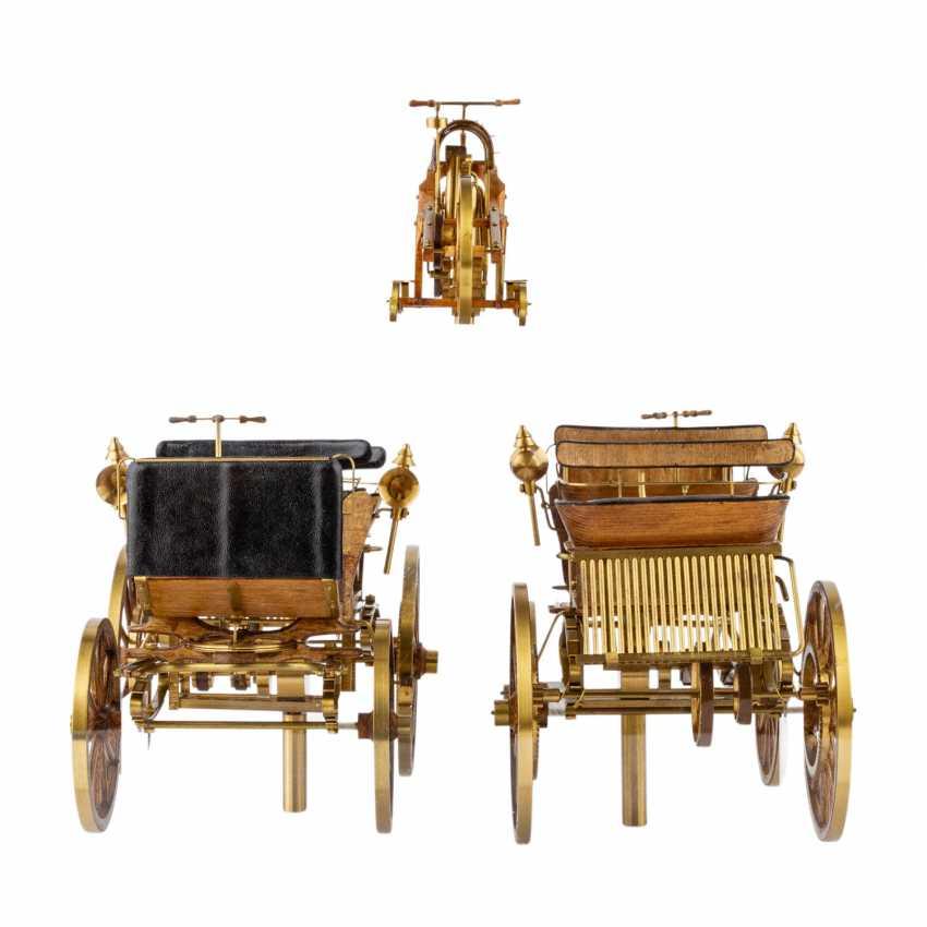 3-teilig Konvolut Modelle von Motoren- und Reitwagen, 20. Jahrhundert - Foto 4