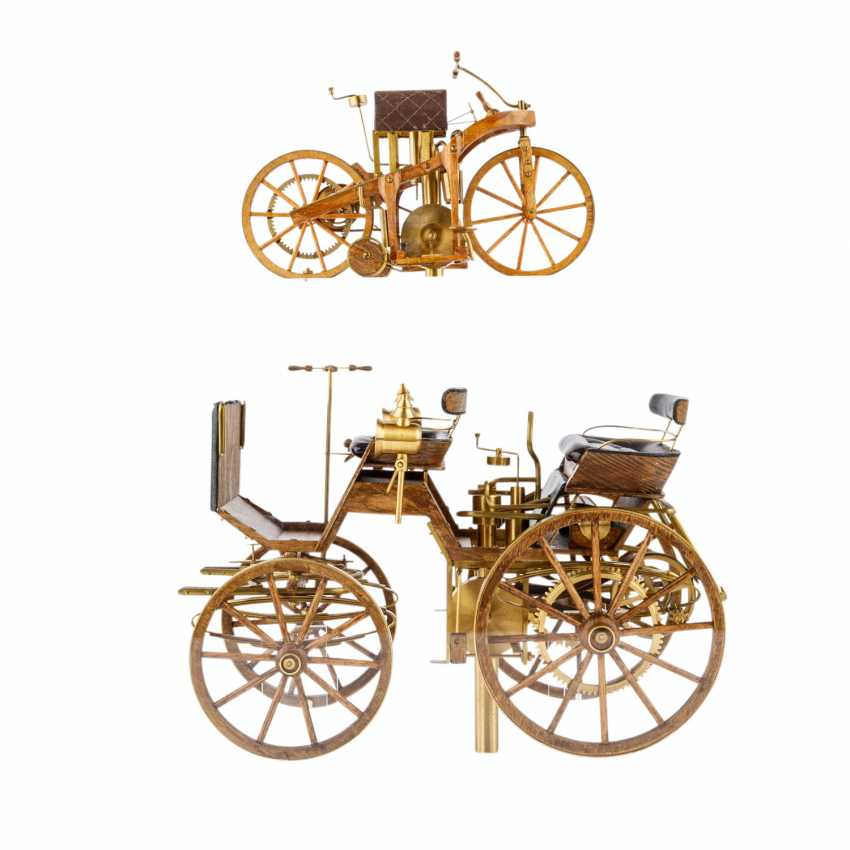 3-teilig Konvolut Modelle von Motoren- und Reitwagen, 20. Jahrhundert - Foto 6
