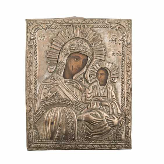 Mother of God icon with Metalloklad, RUSSIA, around 1900. - photo 1