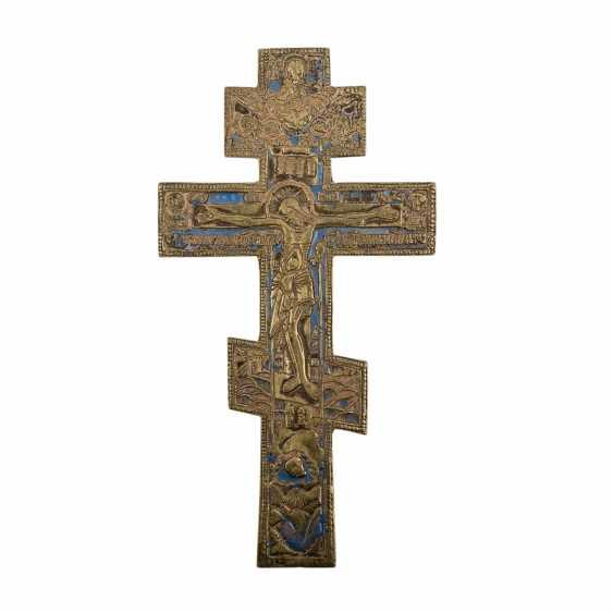 Kiotkreuz aus Messing. RUSSLAND, um 1900 - Foto 1