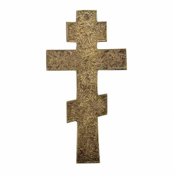 Kiotkreuz aus Messing. RUSSLAND, um 1900 - Foto 2