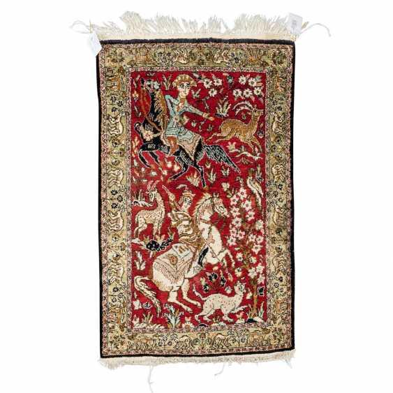 Orientteppich aus Seide. 20. Jahrhundert, ca. 84x53 cm. - Foto 1
