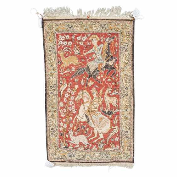 Orientteppich aus Seide. 20. Jahrhundert, ca. 84x53 cm. - Foto 2