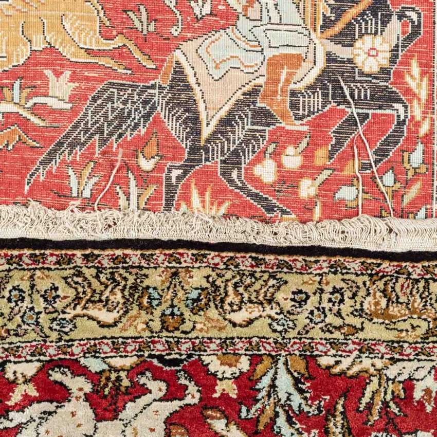 Orientteppich aus Seide. 20. Jahrhundert, ca. 84x53 cm. - Foto 3