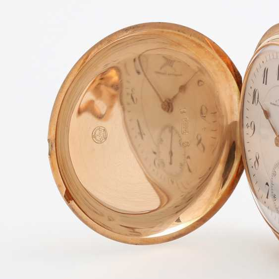 J. ASSMANN pocket watch, Savonette, around 1900, rose Gold 14K - photo 2