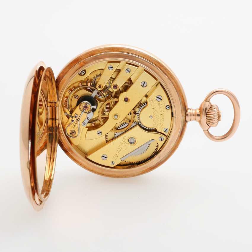 J. ASSMANN pocket watch, Savonette, around 1900, rose Gold 14K - photo 4