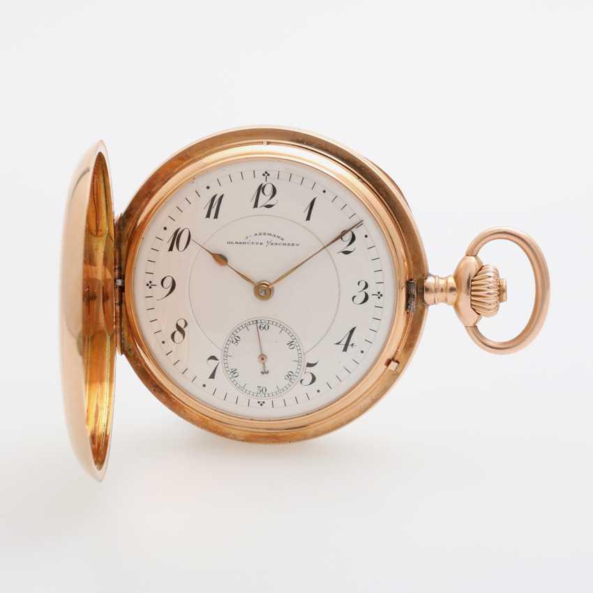 J. ASSMANN pocket watch, Savonette, around 1900, rose Gold 14K - photo 1