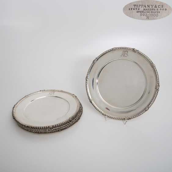 TIFFANY&CO 6 Platzteller, 925 Silber, 20. Jahrhundert - photo 1