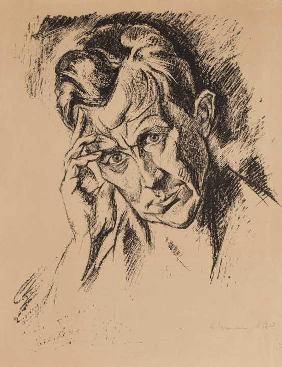 ГЕНРИХ НАУЭНЕ 1880 Крефельд - 1941 калькаре портрет МУЖЧИНЫ - фото 1
