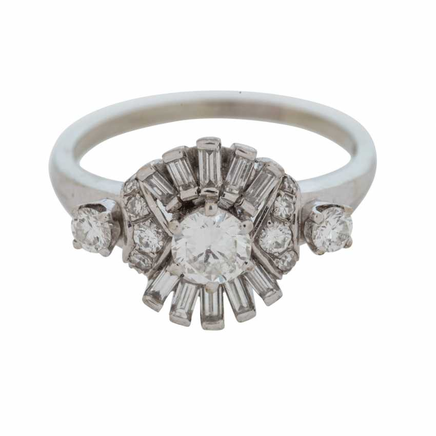 0558b34dcc0da2 Ladies ring studded with brilliant and baguette-cut diamonds. - photo 1