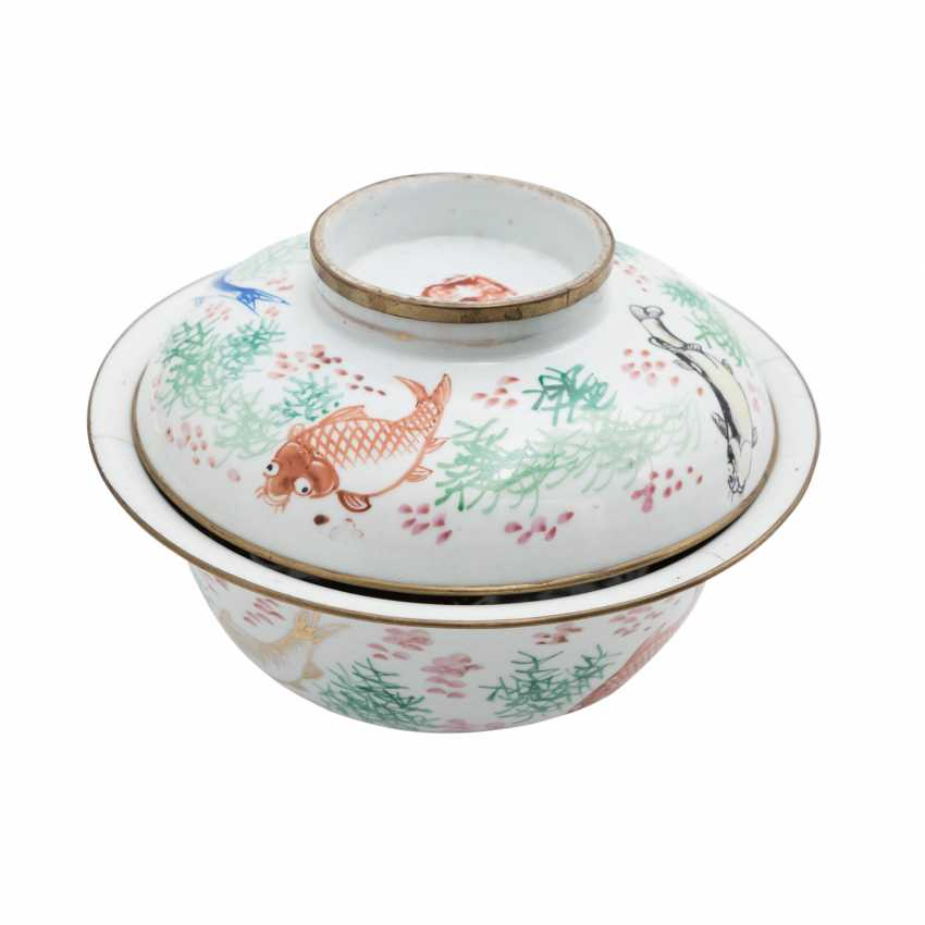 Lot 1172  Porcelain bowl with fish painting  ASIA, 20