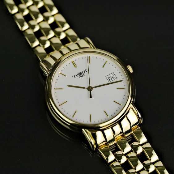 Господь наручные часы, Tissot Швейцария, Желтое золото 750 / 18k, мяты, вероятно, не ношен. - фото 1