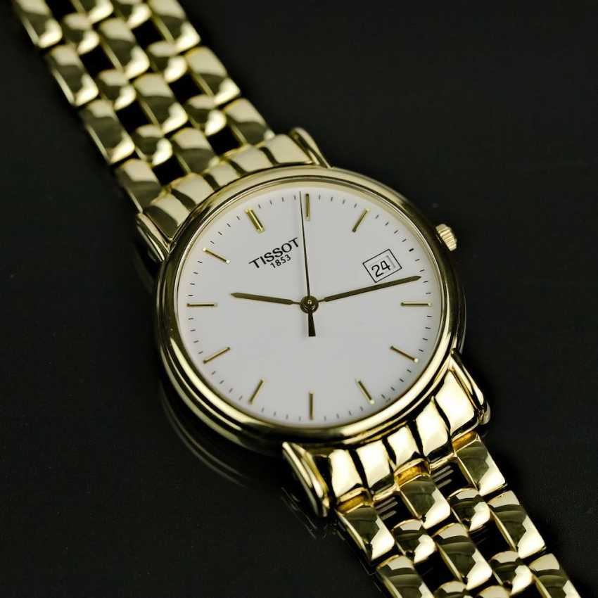Mr bracelet watch, Tissot of Switzerland, in Yellow-Gold 750 / 18 carats, mint condition, probably never worn. - photo 1