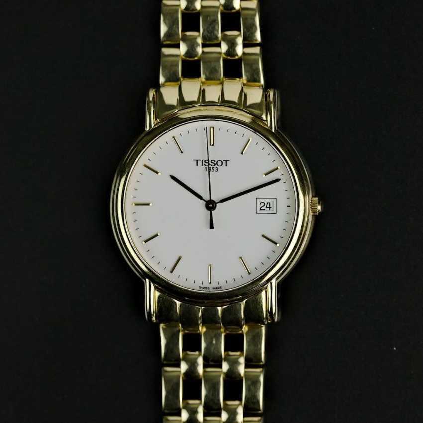 Господь наручные часы, Tissot Швейцария, Желтое золото 750 / 18k, мяты, вероятно, не ношен. - фото 2