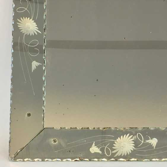 Exceptional level: green currently the / art Nouveau circa 1890, glass ground and mounted, crimped edge, very rare. - photo 2