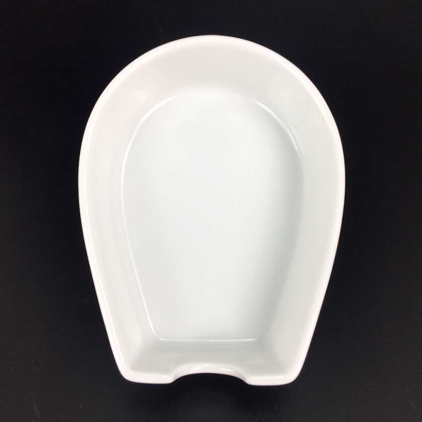 Ash bowl Meissen porcelain: a horseshoe-shape, white, 1. Choice, very well. - photo 1