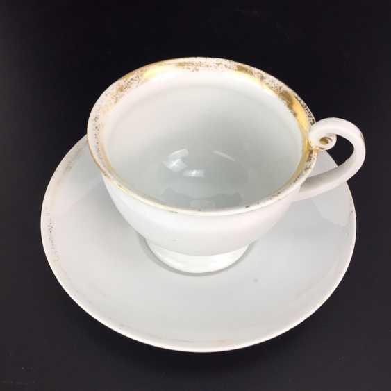 Empire Place: Meissen, porcelain, gold rim, Royal porcelain manufactory, Meissen, around 1820, 1. Choice, very well. - photo 1