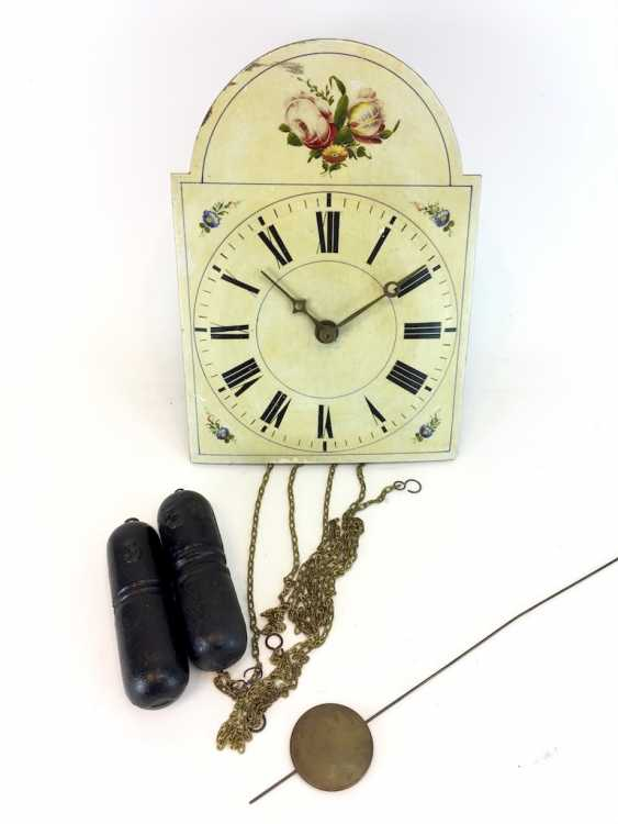Signs-Watch / Images-Clock, The Black Forest, 19. Century, with pendulum and Weights, very good. - photo 1