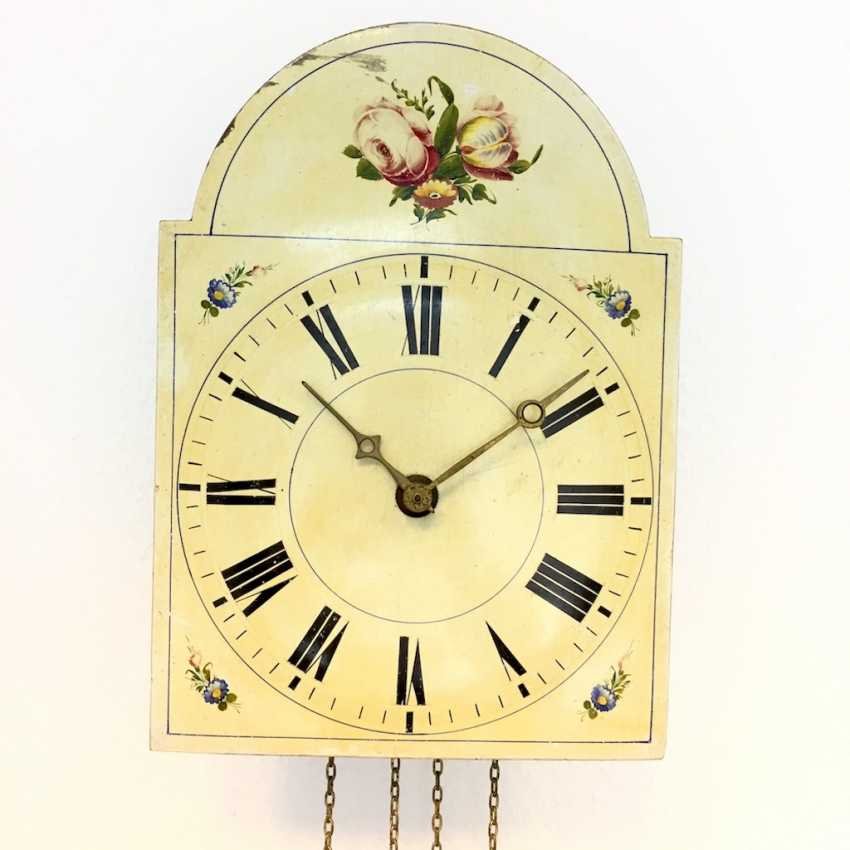 Signs-Watch / Images-Clock, The Black Forest, 19. Century, with pendulum and Weights, very good. - photo 2