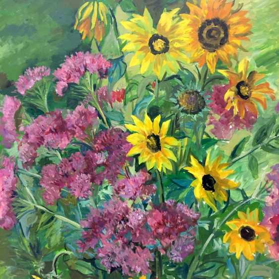 "Anni Jung: ""sunflowers"", Oil on canvas, 2000, in the context, very well. - photo 1"