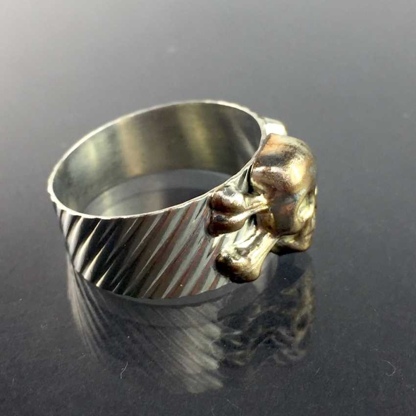 Ring with Skull and crossbones / skull / Skull, silver 900, Rockabilly. - photo 2