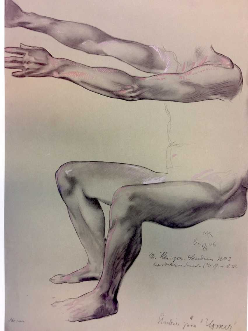 "According to Prof. Max Klinger: ""studies No. 2 / study of Homer"", light print, 1906. - photo 1"