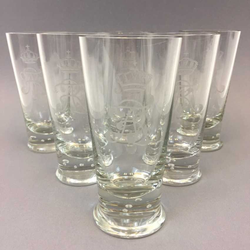 "Kingdom of Saxony: Six glasses, sächsischer Hof, monogram ""FAR"" and king's crown ground. - photo 1"