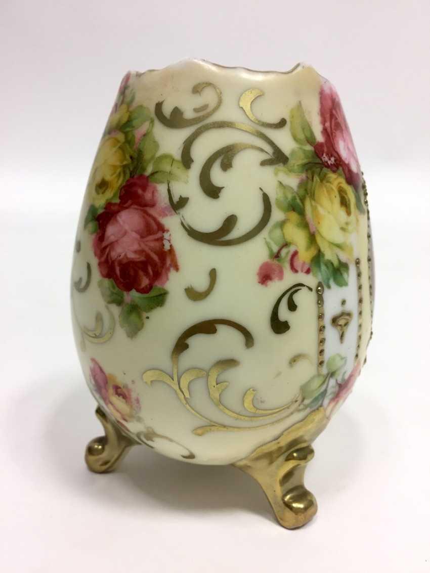 Vase: Bauer & Lehmann Porcelain Manufactory, Leuchtenburg Thuringia. Neo-Baroque to 1880, decor, after François Boucher. - photo 2