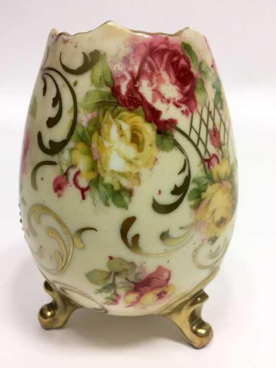 Vase: Bauer & Lehmann Porcelain Manufactory, Leuchtenburg Thuringia. Neo-Baroque to 1880, decor, after François Boucher. - photo 3