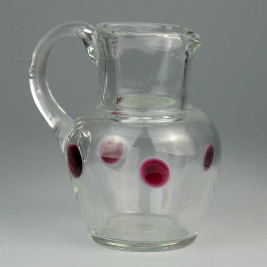 Glass pitcher with Rotglas it comes to sealing, 19. Century - photo 1