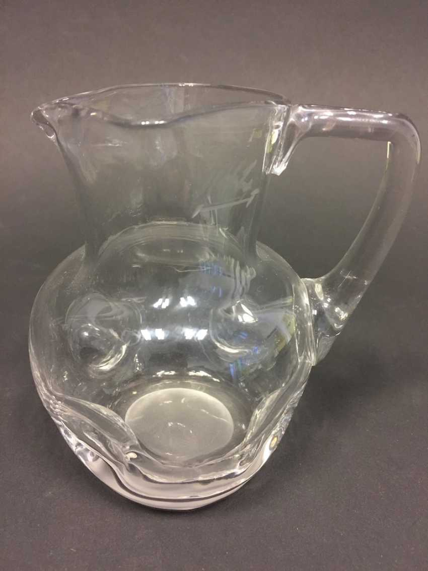 Glass jug: clear with knobs, 19. Century - photo 1