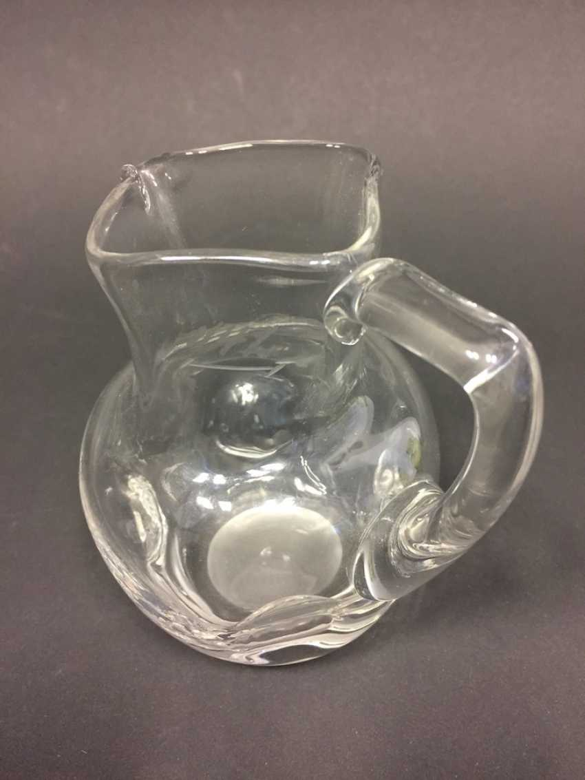 Glass jug: clear with knobs, 19. Century - photo 2