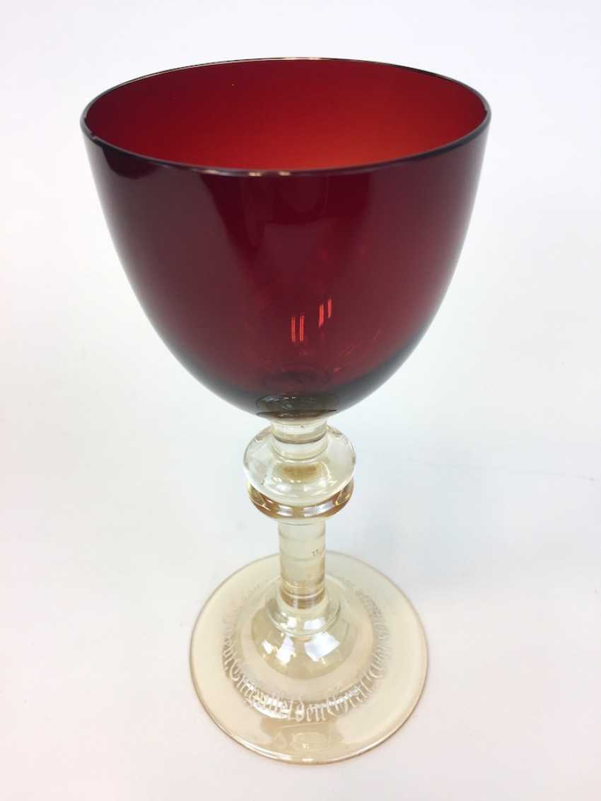Blood Cup / Lodge Cup / Lodge Glass: Honor Gift Parsifal. Siegfried Haertel for schleißheim took hut, Szklarska poręba, 1912. - photo 3