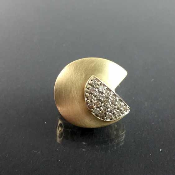 Designer pendant: yellow gold and white gold 585, brilliants. Unique. - photo 2